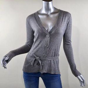 August Silk Grey Pull Over Soft Sweater Medium